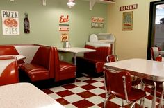50's diner...call it grease lightning lol