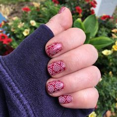 "(@lularoekatrinakarner) on Instagram: ""I just realized I haven't posted a Jamicure in awhile! This weeks mani features #grenadajn & Zoya's…"""