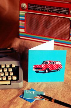 Retro Car Card £2.50
