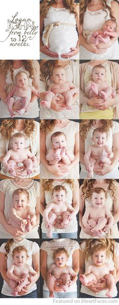 Creative Ways To Document Baby's First Year in Photos - Simply Rosie Photography - Featured on I Heart Faces