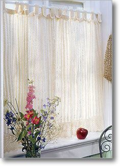 These are the nicest lace knit curtains I've seen!  I might have to make them...