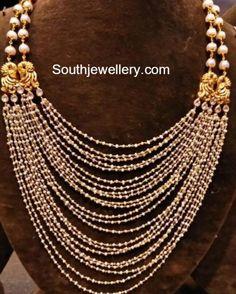 Layered Small Pearls Mala photo