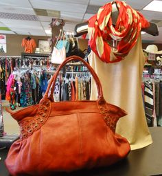 Great Tano Bag and Chico's Scarf.  At Ms. Mulligan's Consignment Boutique in Jacksonville, FL.
