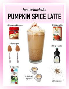 Make your own Pumpkin Spice Latte.  or ... Anything. ..