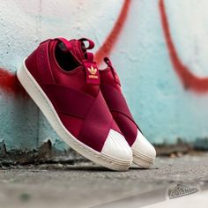 adidas superstar slip on rosse