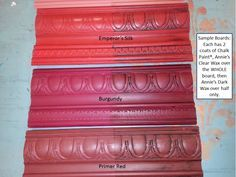 Sample Board Burgundy Emperor's Silk Primer Red Chalk Paint The Purple Painted Lady