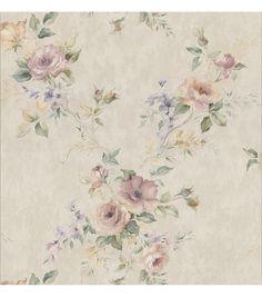 Gaiana Peach Rose Trail Wallpaper