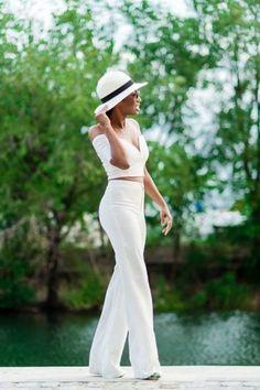white on white #bardot top