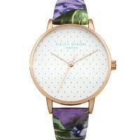 Buy Daisy Dixon Ladies' Suki Watch (Purple) from Women's Watches range at… Cool Watches, Women's Watches, Jewelry Watches, Popular Watches, Black Rubber, Rose Gold Plates, Watch Bands, White Leather, Bracelet Watch