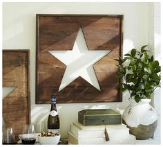 Wooden Star Sign Pottery Barn knockoff for $10 - Love this!!