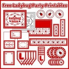 Free Full Set of Ladybug Party Printables! #freeprintables #birthdayprintables #ishareprintables
