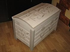 Hand Painted Furniture, Hope Chest, Outdoor Furniture, Outdoor Decor, Outdoor Storage, Storage Chest, Cabinet, Home Decor, Stencil