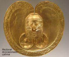 Pectoral Acorazonado Calima Colombia Antique Art, Antique Jewelry, Gold Jewelry, Colombian Gold, Golden Treasure, Unusual Jewelry, Gold Art, Spirit Animal, Archaeology