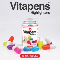 Vitapens Novelty Highlighter Pill Capsules GIFTS