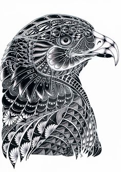 Eagle Zentangle by LilysTangles on DeviantArt