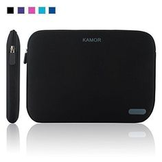 Kamor 14-Inch Water Resistant Neoprene Laptop Sleeve Black NEW Cover Case