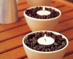 kaffee teelichter deko ideen für kerzenhalter selbermachen