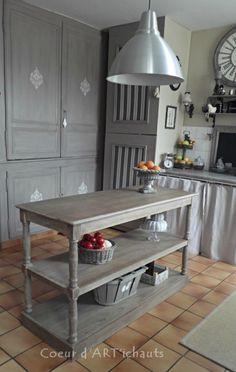 SAM_3158 Grey Interiors, Kitchen Utensils, Repurposed, Kitchen Ideas, Shabby Chic, Decoration, Old Furniture, Painted Furniture, Home Ideas