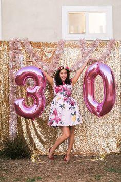 Sparkly 30th Birthday Bash On Karas Party Ideas