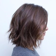 Messy Bob With Jagged Ends