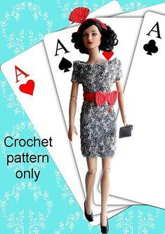 Crochet pattern PDF for 16-inch fashion doll by PrincessOfCrochet