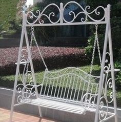 Swing Chair Metal Walnut Dining Chairs 62 Best Bed Images Gardens Sets Iron Double Basket Outdoor And Shook His Balcony Hanging Recliner Wrought