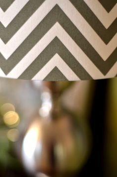 All You Need Is Love.... and Paint, THE chevron lamp :)