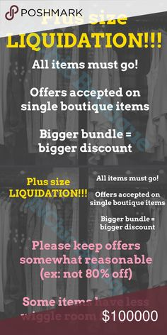 BEGINS SATURDAY! In an effort to prevent JNChic from closing, it's time for a liquidation event! Add your likes to a bundle and submit an offer. I'm highly motivated to clear out this entire closet, but please be mindful of posh fees and the taxes I pay on my sales. Thank you! Dresses