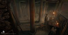 View an image titled 'Assassin Library Hideout Art' in our Assassin's Creed Origins art gallery featuring official character designs, concept art, and promo pictures. Assassins Creed Empire, Assassins Creed Origins, In Ancient Times, Ancient Rome, Ancient Greece, Alexander The Great Tomb, The Dark One, Environment Design, Fantasy Inspiration