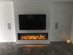 Living Room Decor Fireplace, Fireplace Tv Wall, Living Room Decor Cozy, Living Room Flooring, Fireplace Design, Living Room Lounge, Home Living Room, Living Room Designs, Built In Electric Fireplace