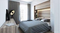 Zabudowane łóżko w sypialni