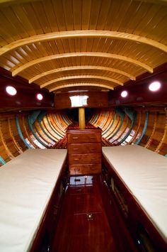 Stitch And Glue Boat Plans Sailboat Interior, Yacht Interior, Classic Sailing, Classic Yachts, Yacht Design, Boat Design, Wooden Speed Boats, Classic Wooden Boats, Plywood Boat Plans