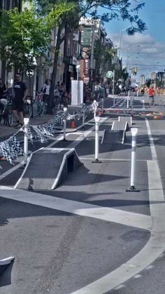 Bloor St. bike lane @OpenStreetsTO, via @CyclePlanner. Credit: Hackney Cyclist. Click image to tweet, and visit the Slow Ottawa boards >> https://www.pinterest.com/slowottawa/