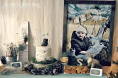 Here's how to stage a completely DIY and budget-friendly first birthday party, with a Winter Woodland theme, from TheDomesticHeart.com