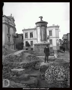 Athens Greece, Back In Time, Once Upon A Time, Archaeology, Old Photos, Old Things, Explore, History, Monuments