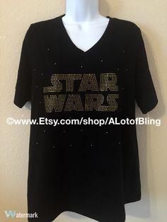 Star Wars Rhinestone T-Shirt https://www.etsy.com/listing/262431133/star-wars-rhinestone-t-shirt?ref=shop_home_active_7