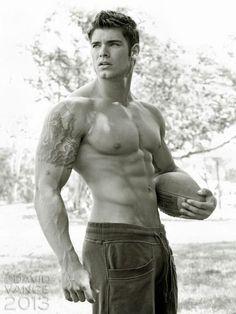 Colin Wayne © DAVID VANCE http://davidvanceprints.com # men hot guy abs pecs eye candy bare chest hunk nice arms male fitness model body adonis shirtless bodybuilder
