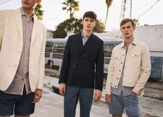 Adrien Sahores, Matthew Holt (on center) and  Kit Butler (on right) by Matteo Montanari for Mango Man's Spring Summer 2017 Campaign