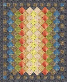 Chinese Windows Bed Quilt