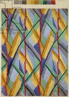 Credit: Design for Omega Workshops Fabric, 1913 (gouache on paper), Bell, Vanessa (1879-1961) / Yale Center for British Art, Paul Mellon Fund, USA / The Bridgeman Art Library