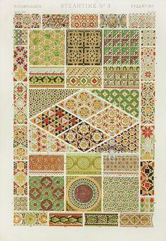 Byzantine ornaments № 3 from Owen Jones's Grammar of Ornaments