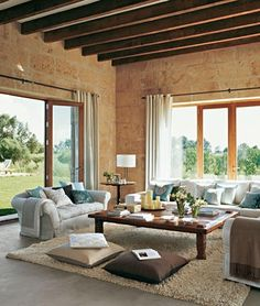 Nadire Atas on Simple and Elegant Living Areas Imagen relacionada Style At Home, Living Area, Living Spaces, Mediterranean Living Rooms, Home And Deco, Porches, My Dream Home, Home And Living, Outdoor Furniture Sets