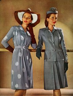 missingsisterstill:  1943 Wartime fashion
