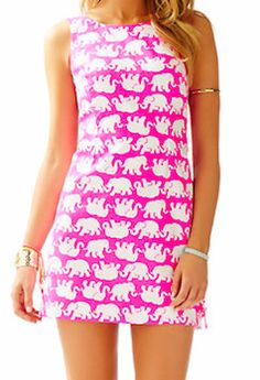 Classic Lily Pulitzer elephant shift dress