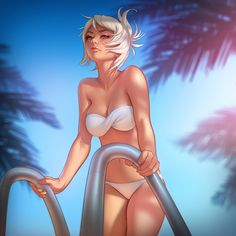 Pool Party Riven by tsuaii