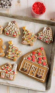 Flat Gingerbread Houses-Making gingerbread houses can be a very long process. It takes a lot of patience to make a house stand. Make the process easier (and simpler for little ones) by making gingerbread house cookies using a house shaped cookie cutter and decorate just like you would a 3D gingerbread house. This recipe would be great for a kids holiday party...even in November when you start gearing up for Christmas. They make great gifts, too. Your child's teacher will welcome the sweet…