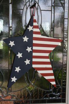Patriotic Star Door Decor