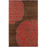 "Surya Rug""Artist Studio Brown / Sky Contemporary Rug"