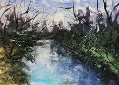 "Daily Paintworks - ""Creek Study"" - Original Fine Art for Sale - © Debbie Yacenda"