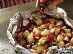 Are you a potato lover?  Try this cheesy grilled version.